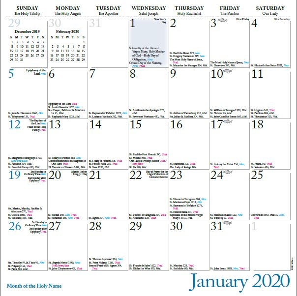 Pictures of Traditional Latin Mass Calendar 2021